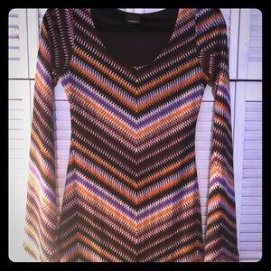 Dresses & Skirts - 70s style long sleeve dress ☮️